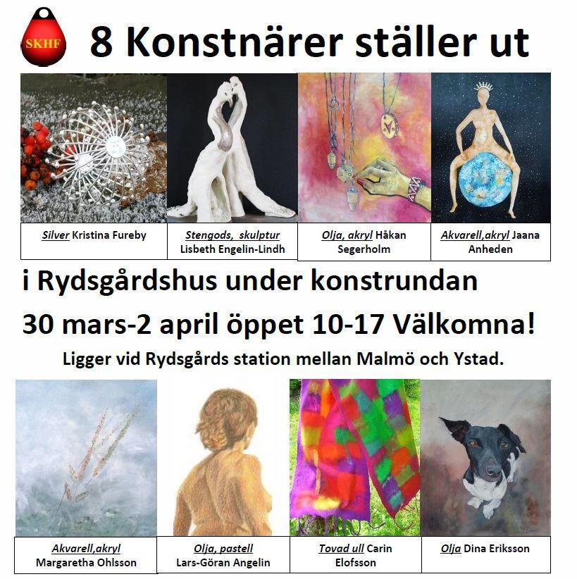 Påskutställning - Konstrundan på Rydgårdshus
