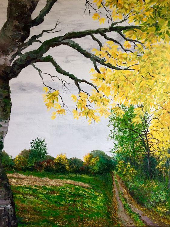 Tavla målad av Louise Östberg