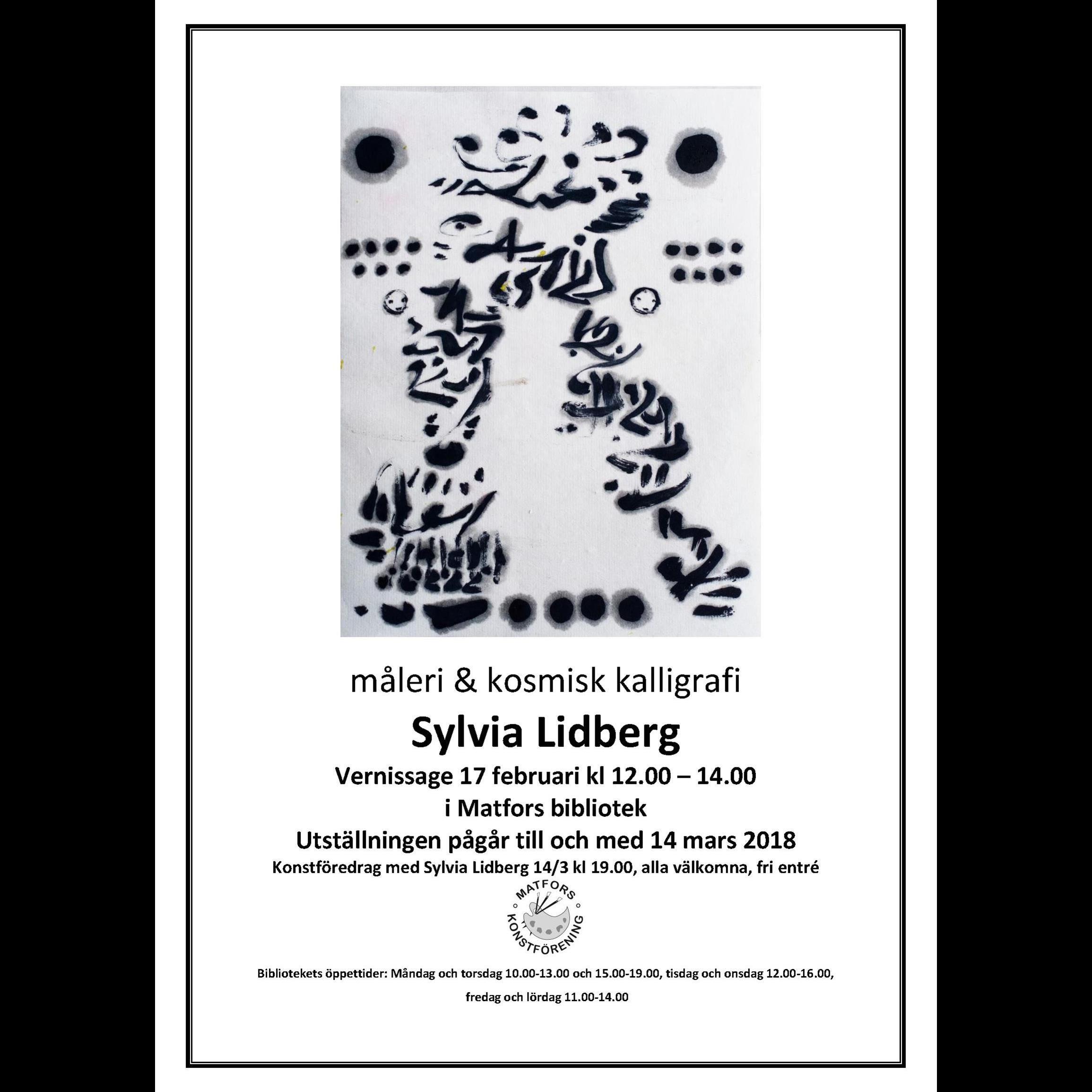 Vernissage och utställning - Sylvia Lidberg