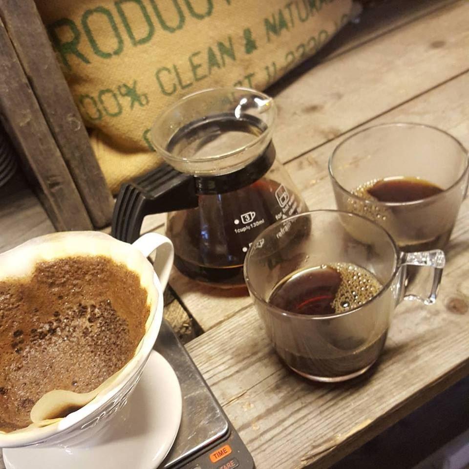 Kaffeprovning med brunch
