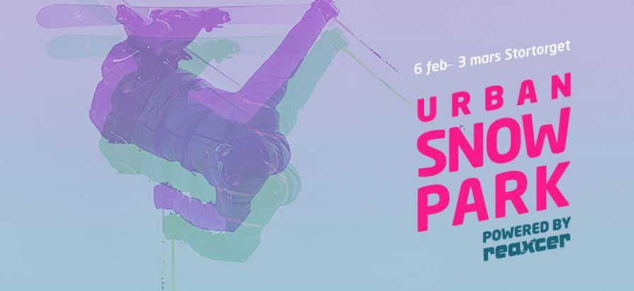 Urban Snowpark - Filmvisning storbildsskärm