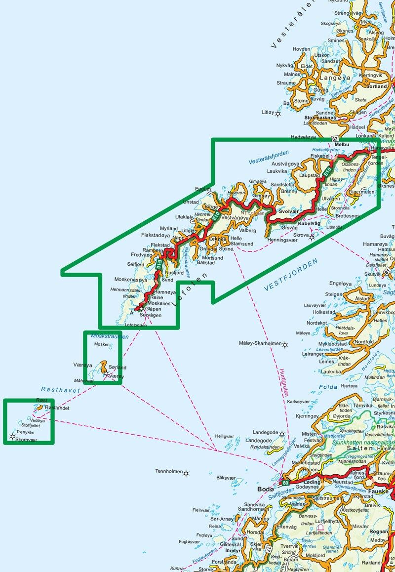 Lofoten maps