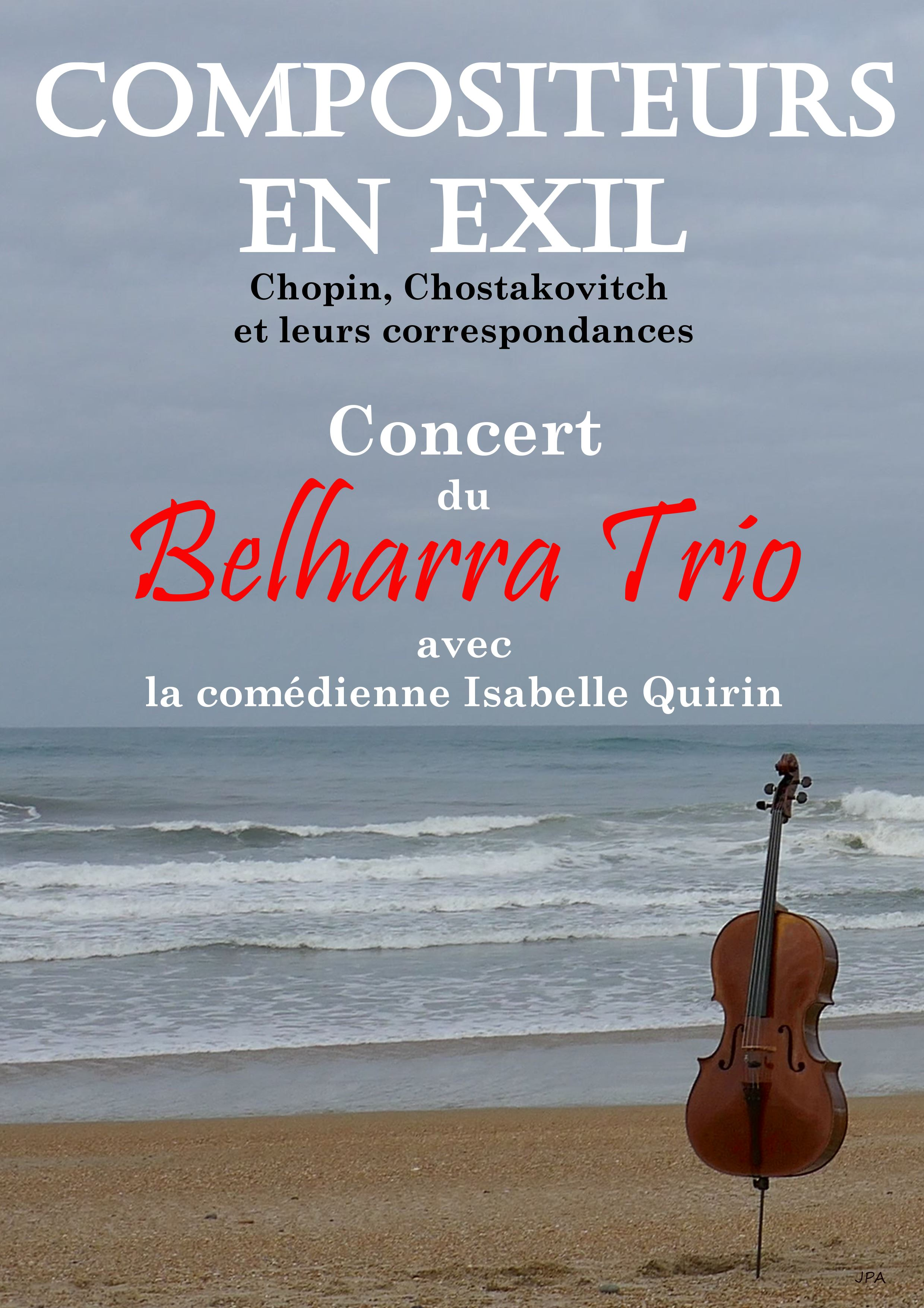 Concert Belharra Trio Mardi 24 Avril 2018