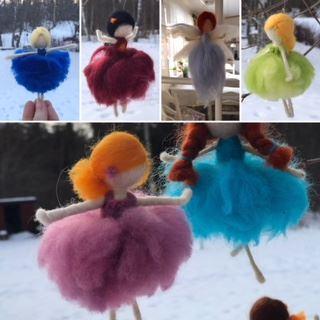 Tillverka egna dockor i ull