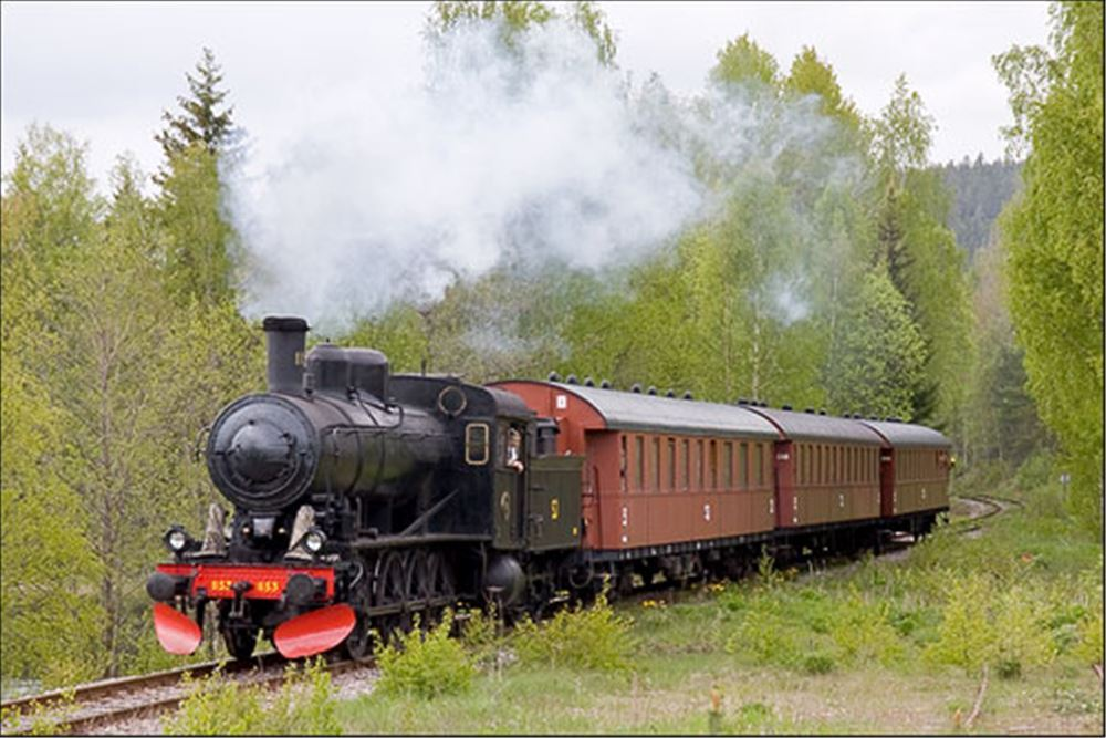Jubilee trip with steam locomotive.