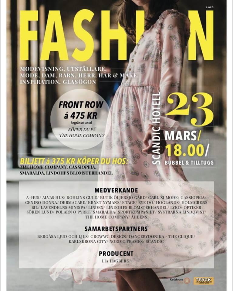 Fashion show at Scandic Hotel