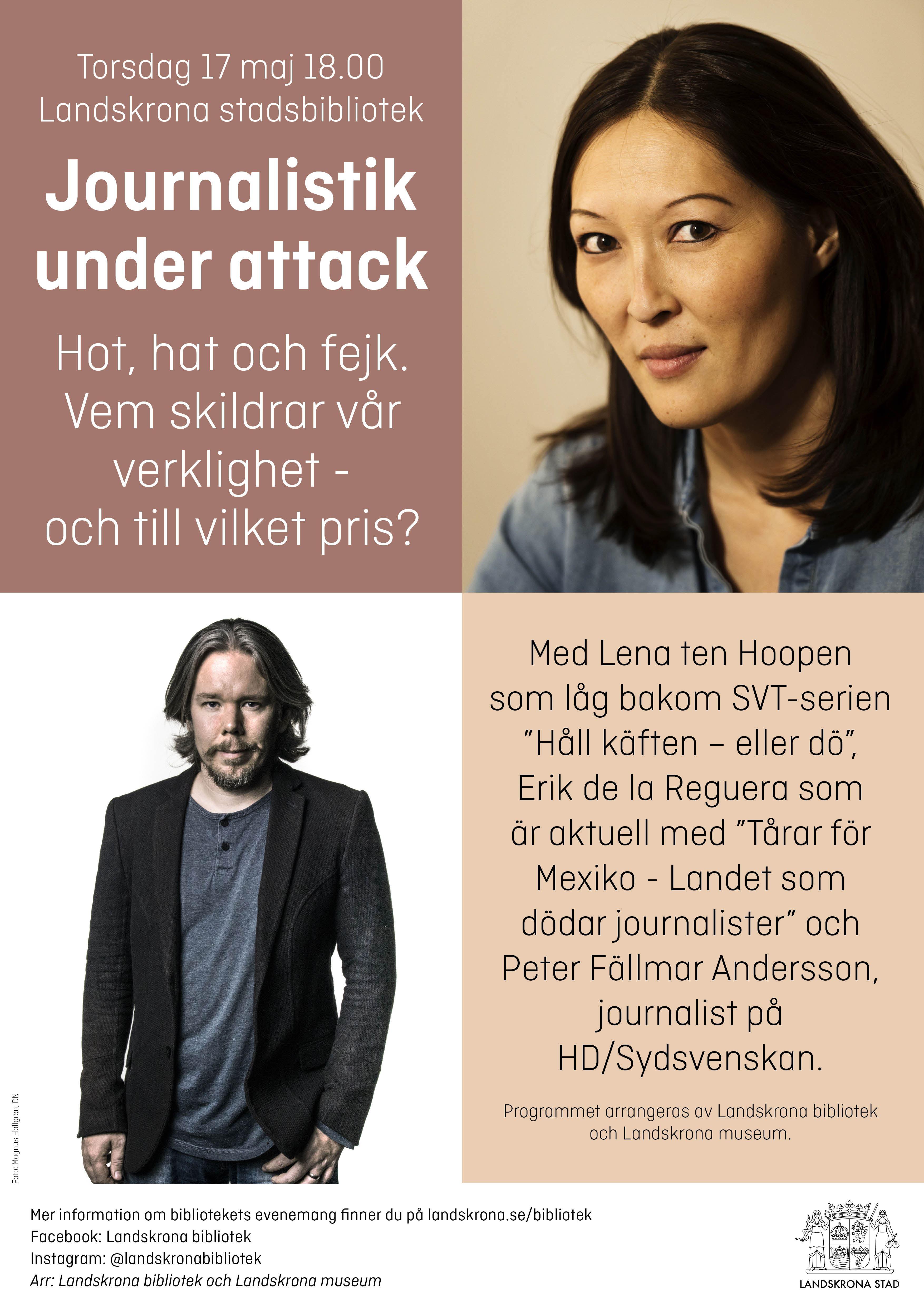 Ola Kjelbye, Magnus Hallgren, Journalistik under attack - Lena Ten Hoopen, Erik de la Reguera och Peter Fällmar Andersson