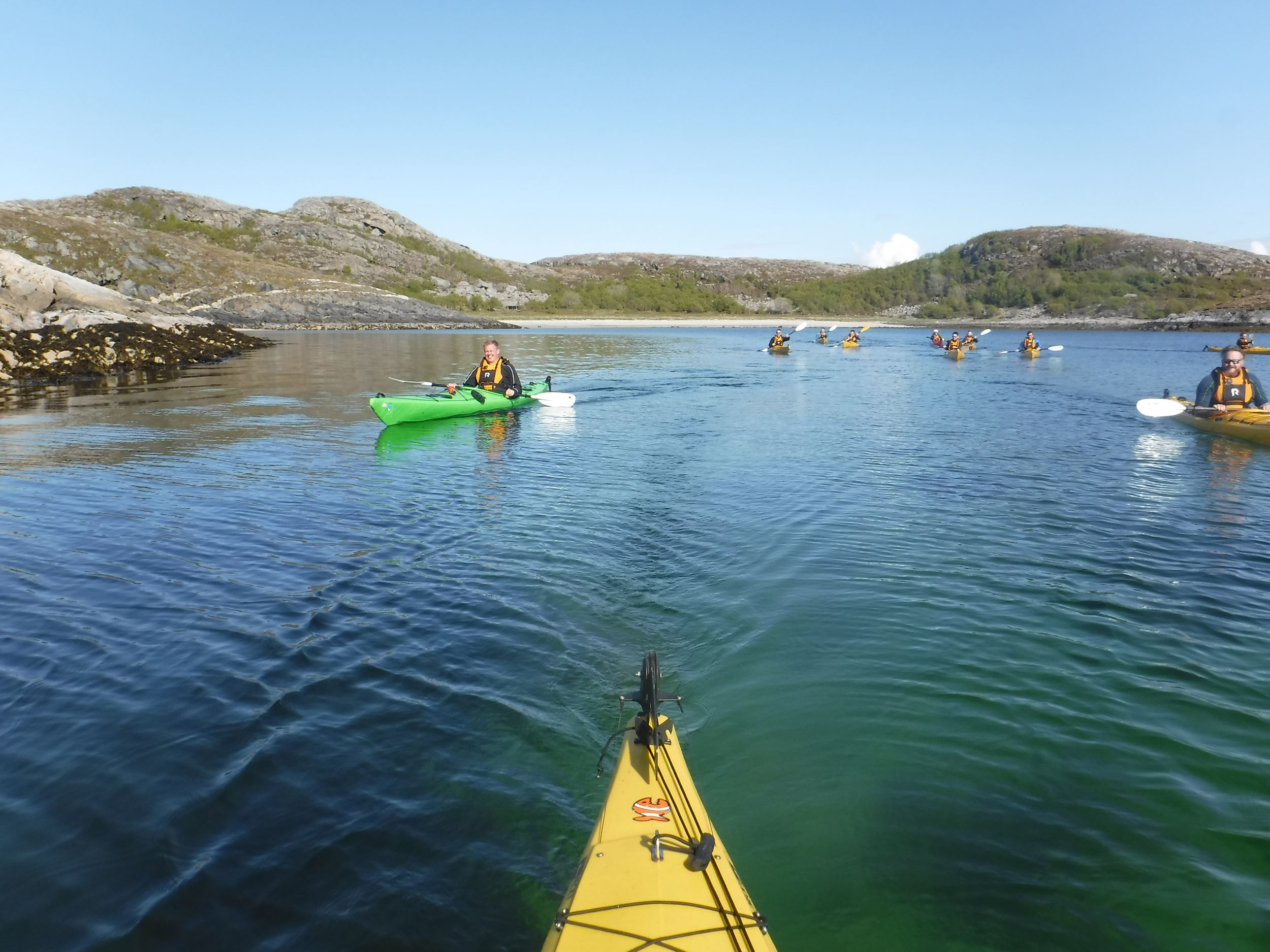 Guided kayak-trips on the Helgeland coast