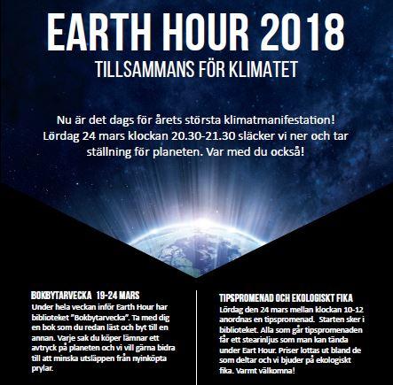 Earth hour 2018 - tillsammans för klimatet