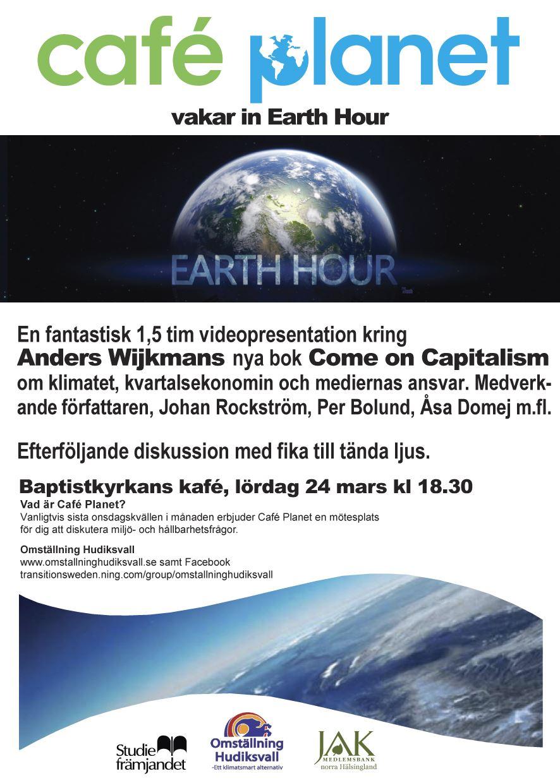 Earth Hour lördag 24 mars