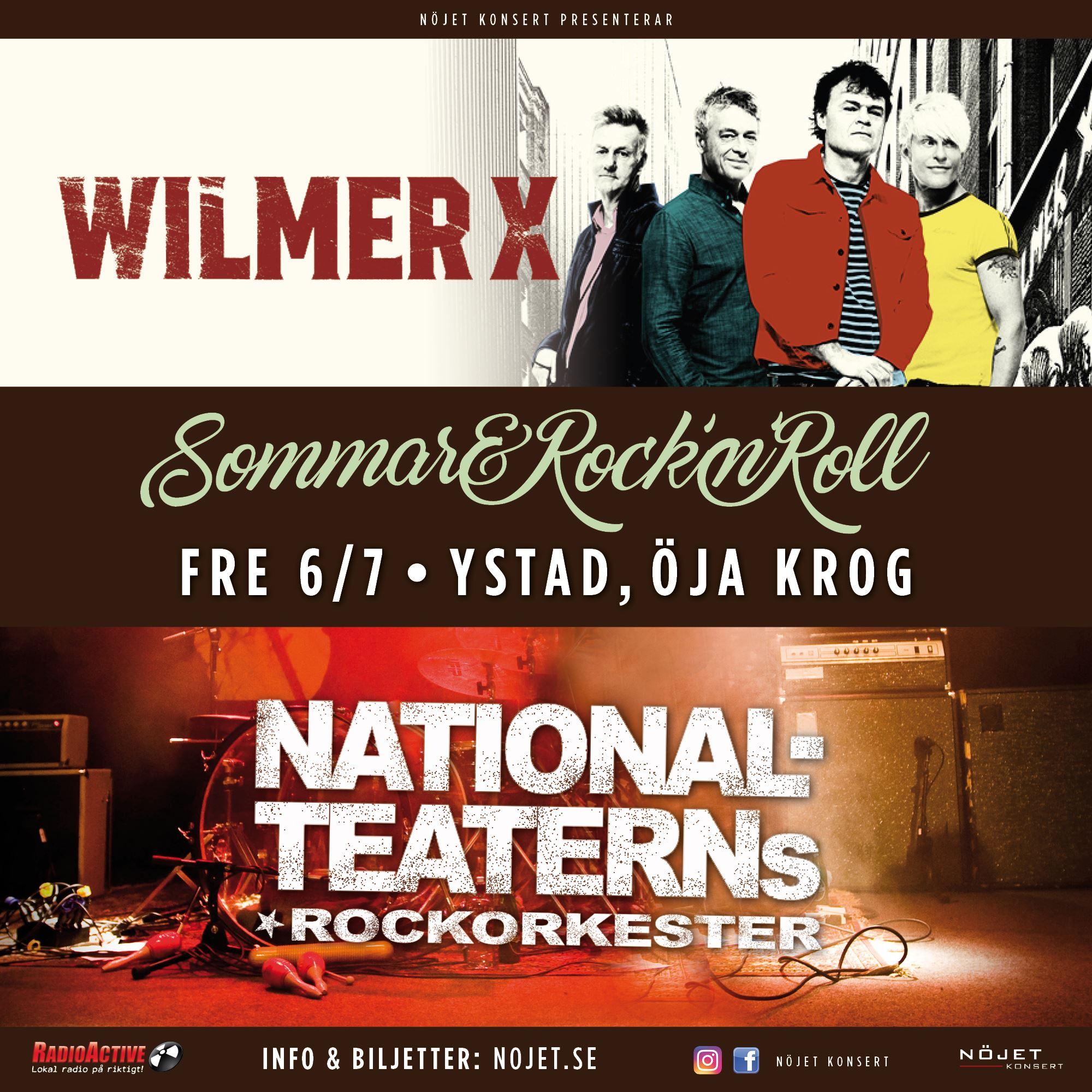 Nationalteaterns Rockorkester & Wilmer X på Öja Krog