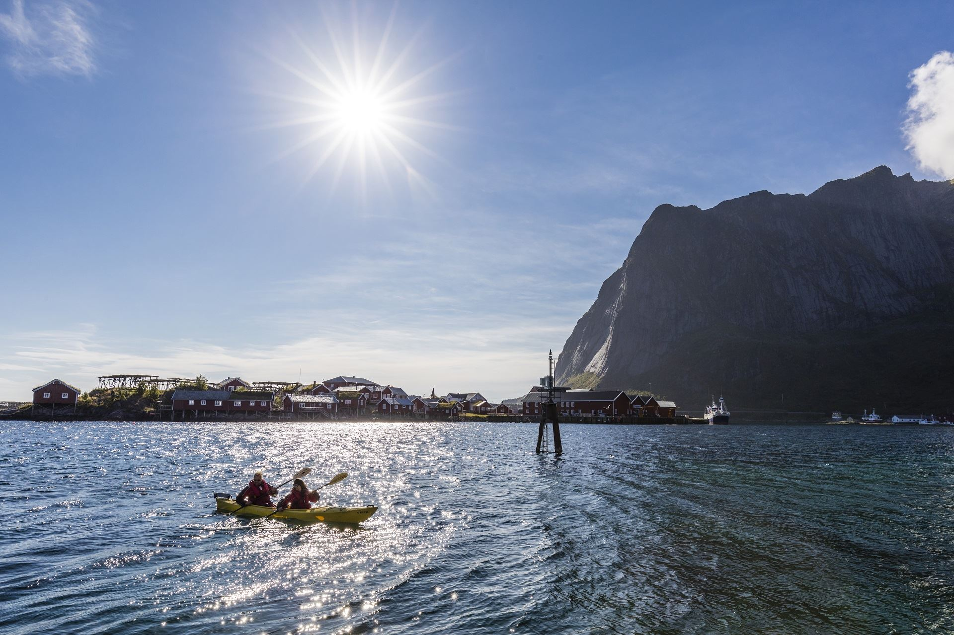 From Reine to Bunes beach in kayaking