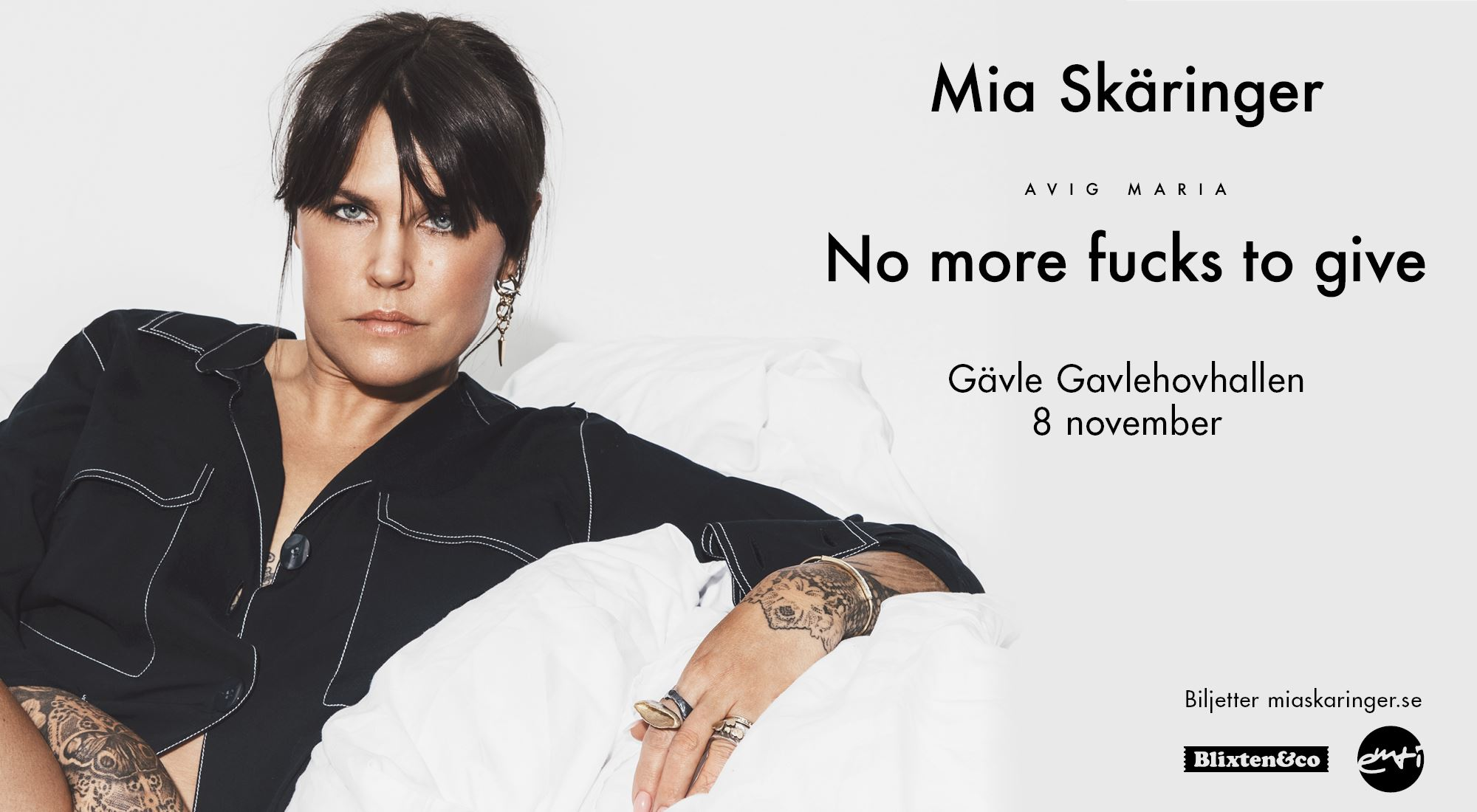 Mia Skäringer på arenaturné med Avig Maria - No more fucks to give!
