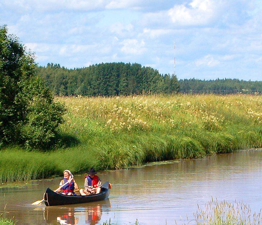 Canoeing route along Koskenkylänjoki