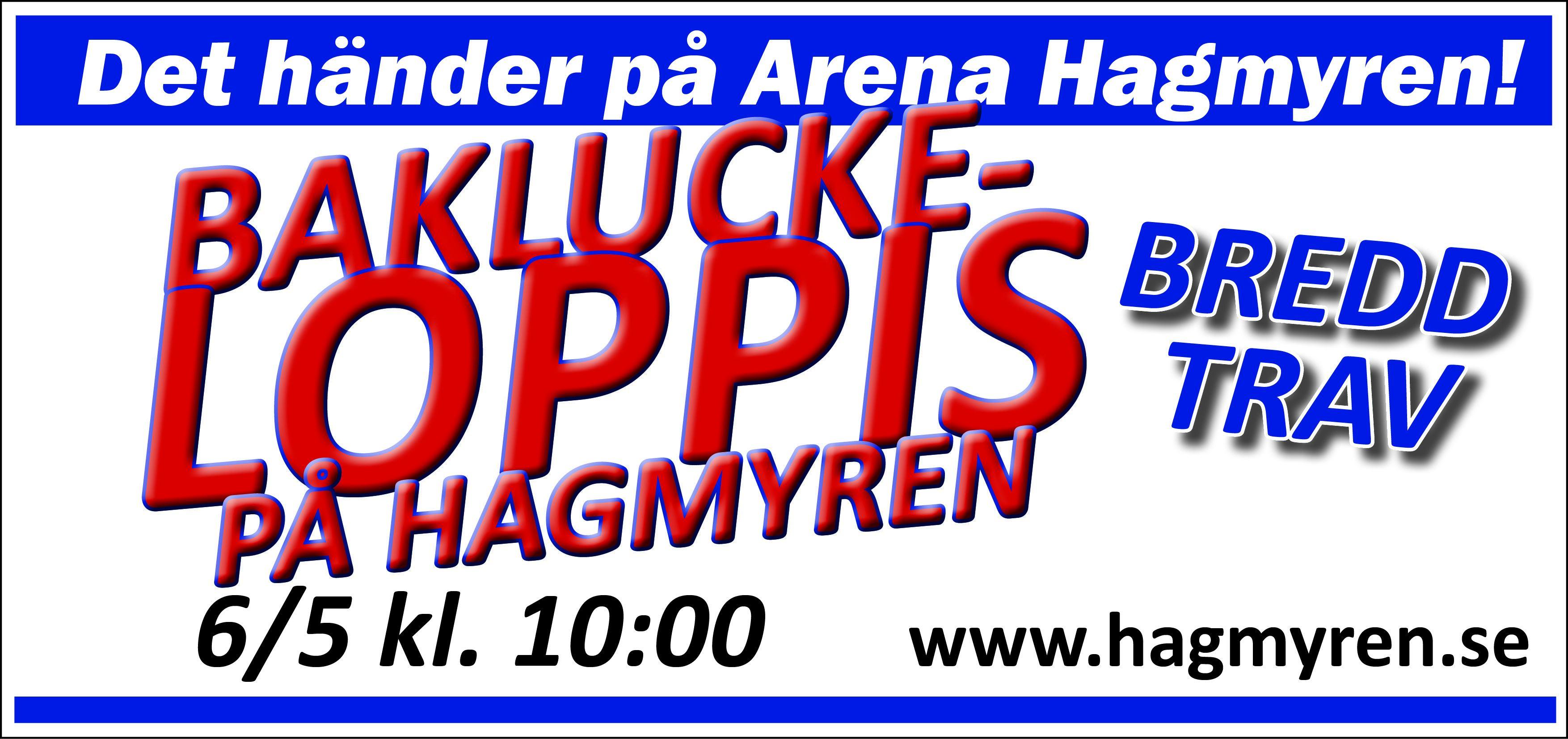 BAKLUCKELOPPIS på Arena Hagmyren