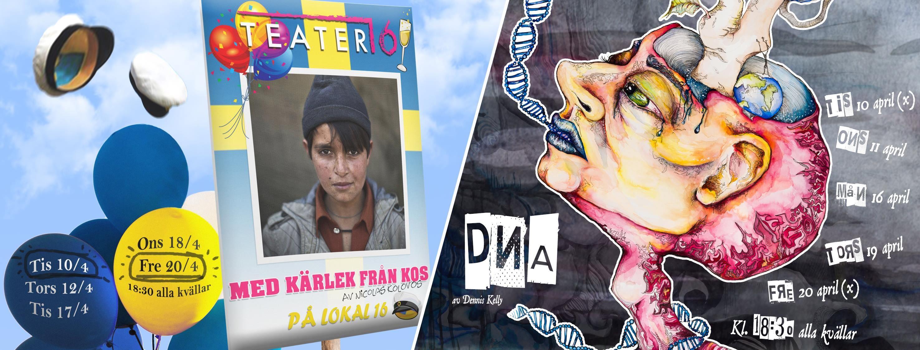Helkväll med Teater 16, DNA och Med kärlek från Kos