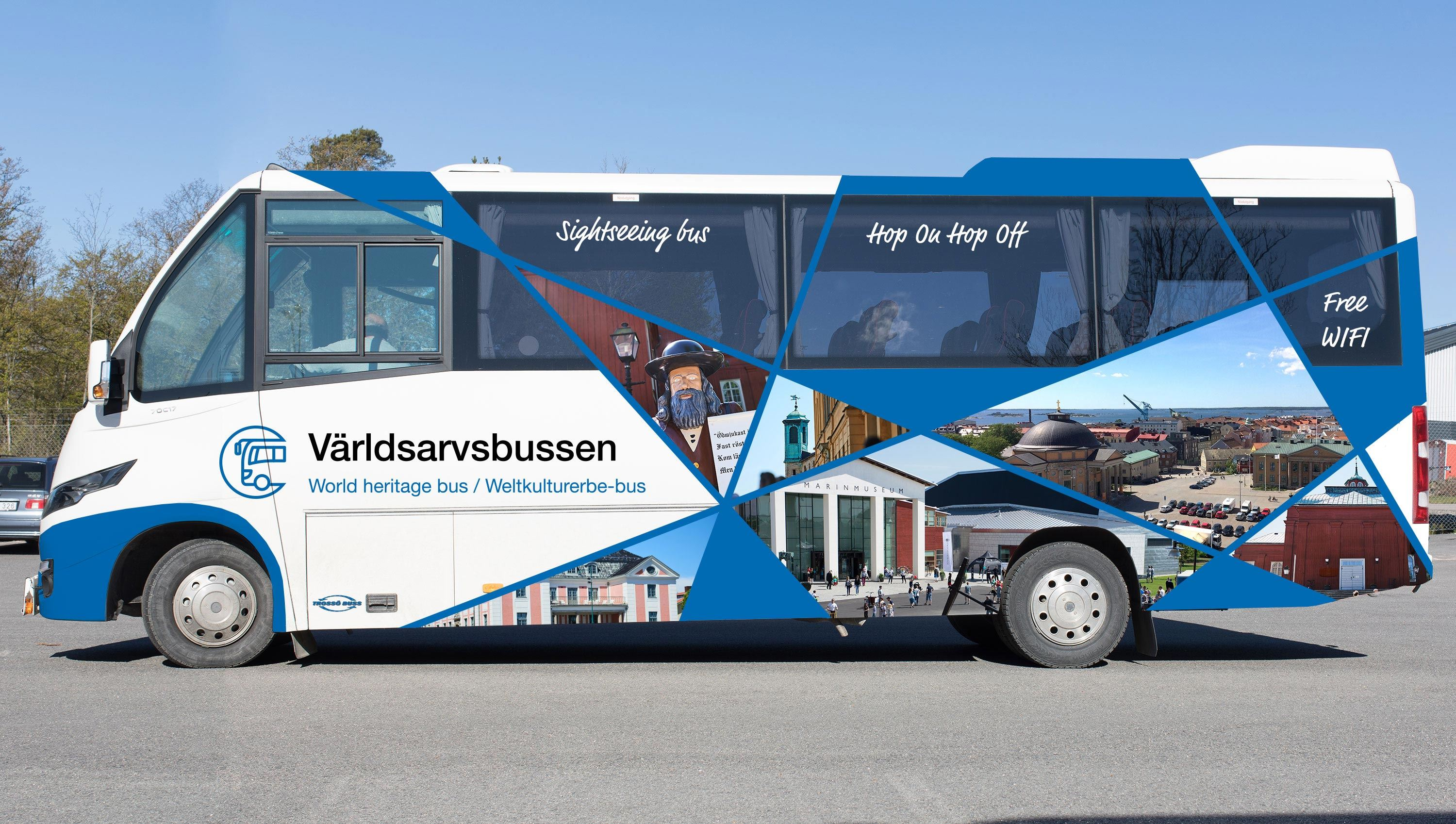 Guided tour - World Heritage bus.