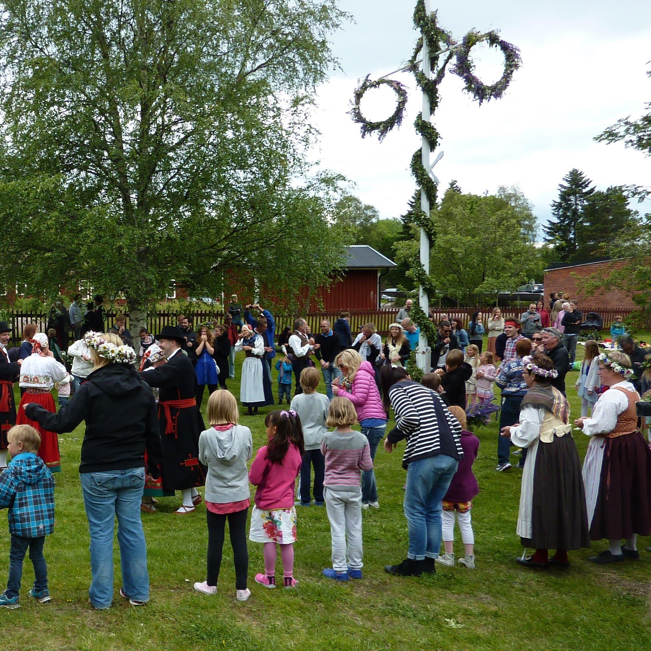 Midsummer celebrations at Garpenberg Old Farm