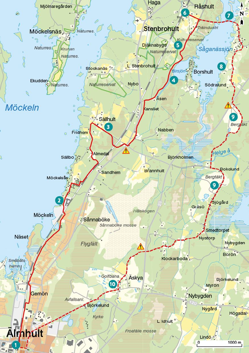 Bicycle tour - Råshult Tour - 24km