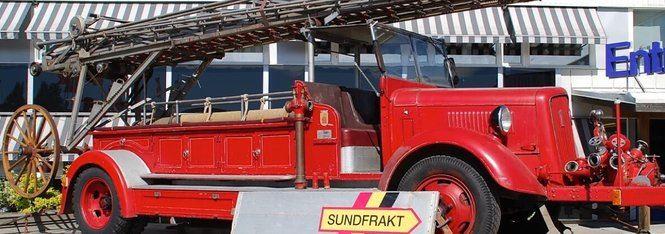 Guidad brandbilstur i stan och Åkroken