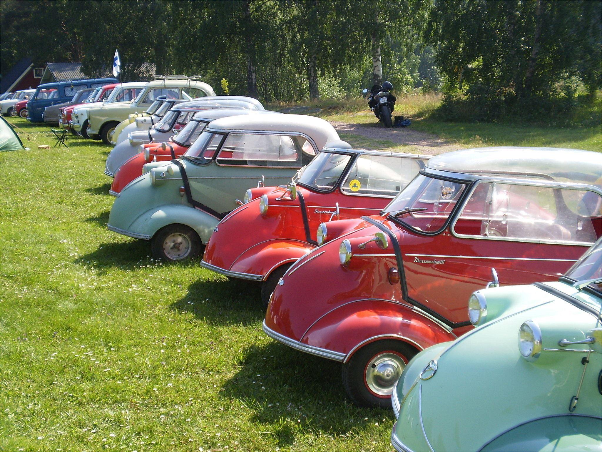 Ålandsrally 2018 - dwarf car exhibition in Eckerö