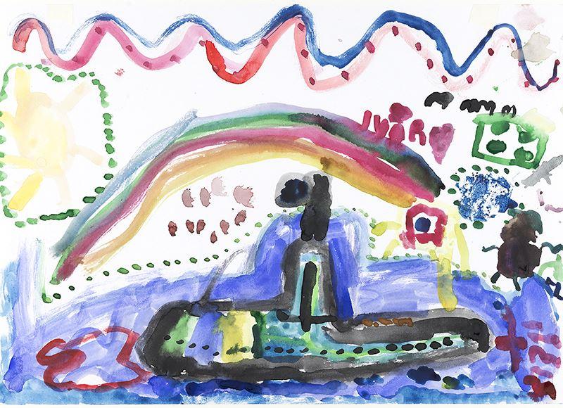 Söndagskul på Marinmuseum -  Måla akvarell