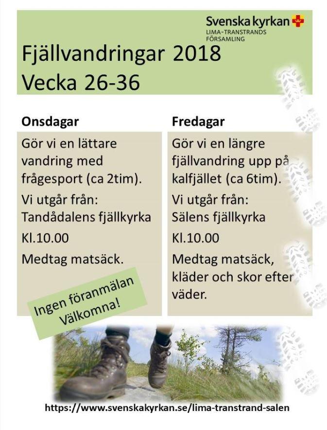 Fjällvandra med Svenska Kyrkan i Sälen