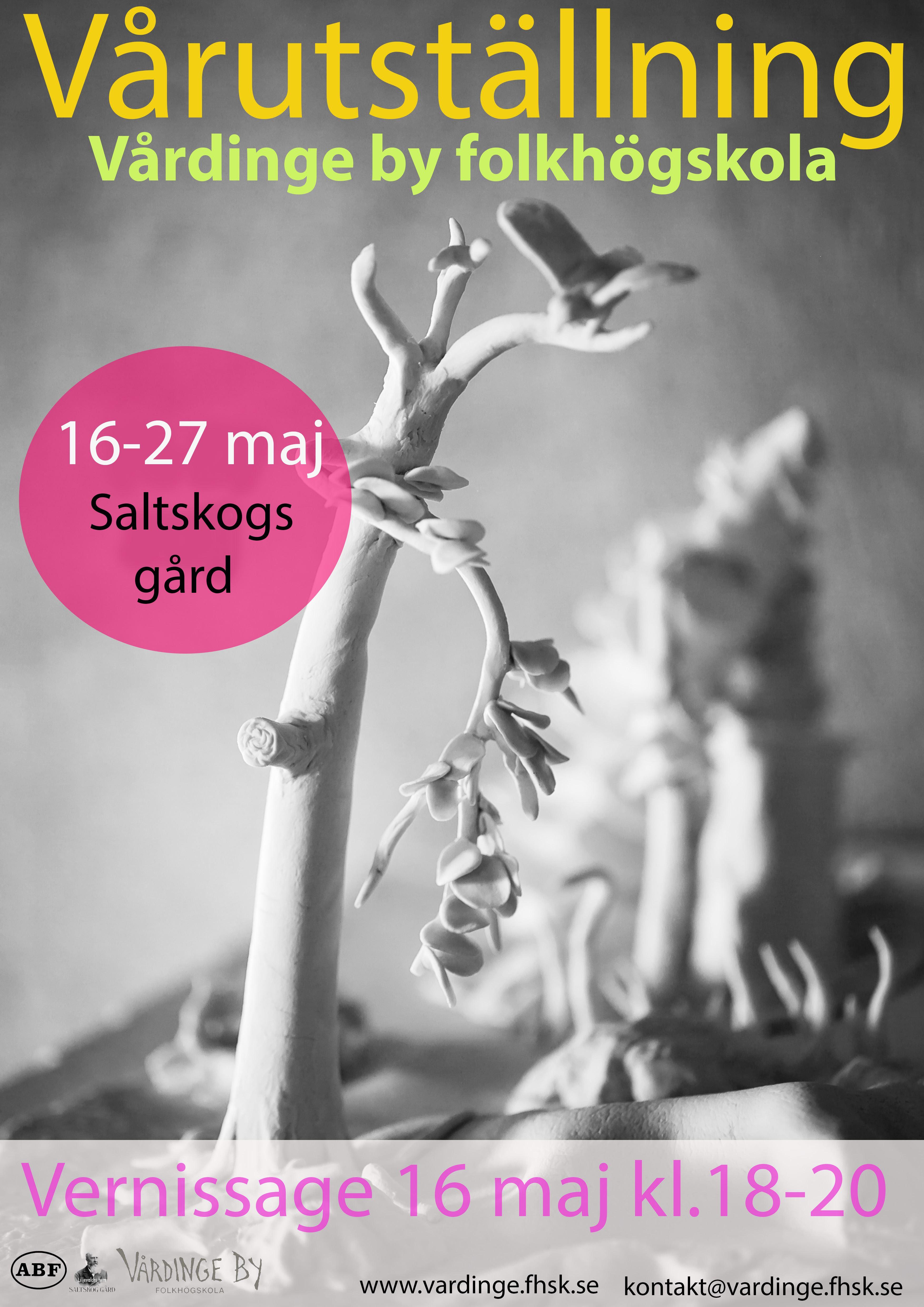 Vårutställning på Saltskogs gård