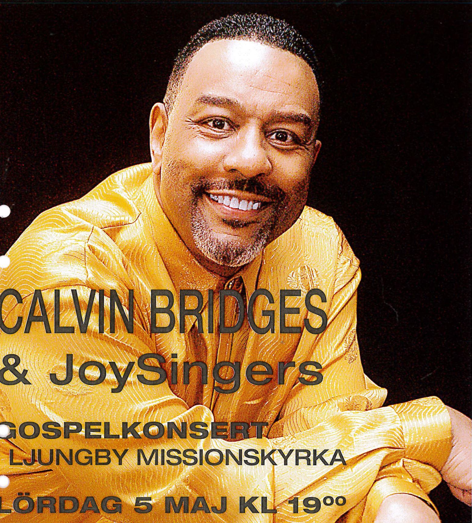 Gospelkonzert mit Calvin Bridges & JoySingers