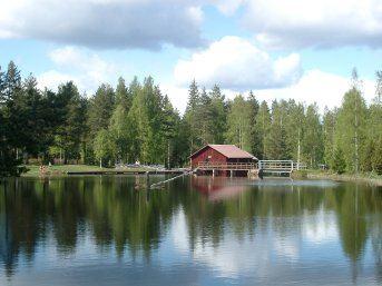 Midsummer celebration in Mångberg