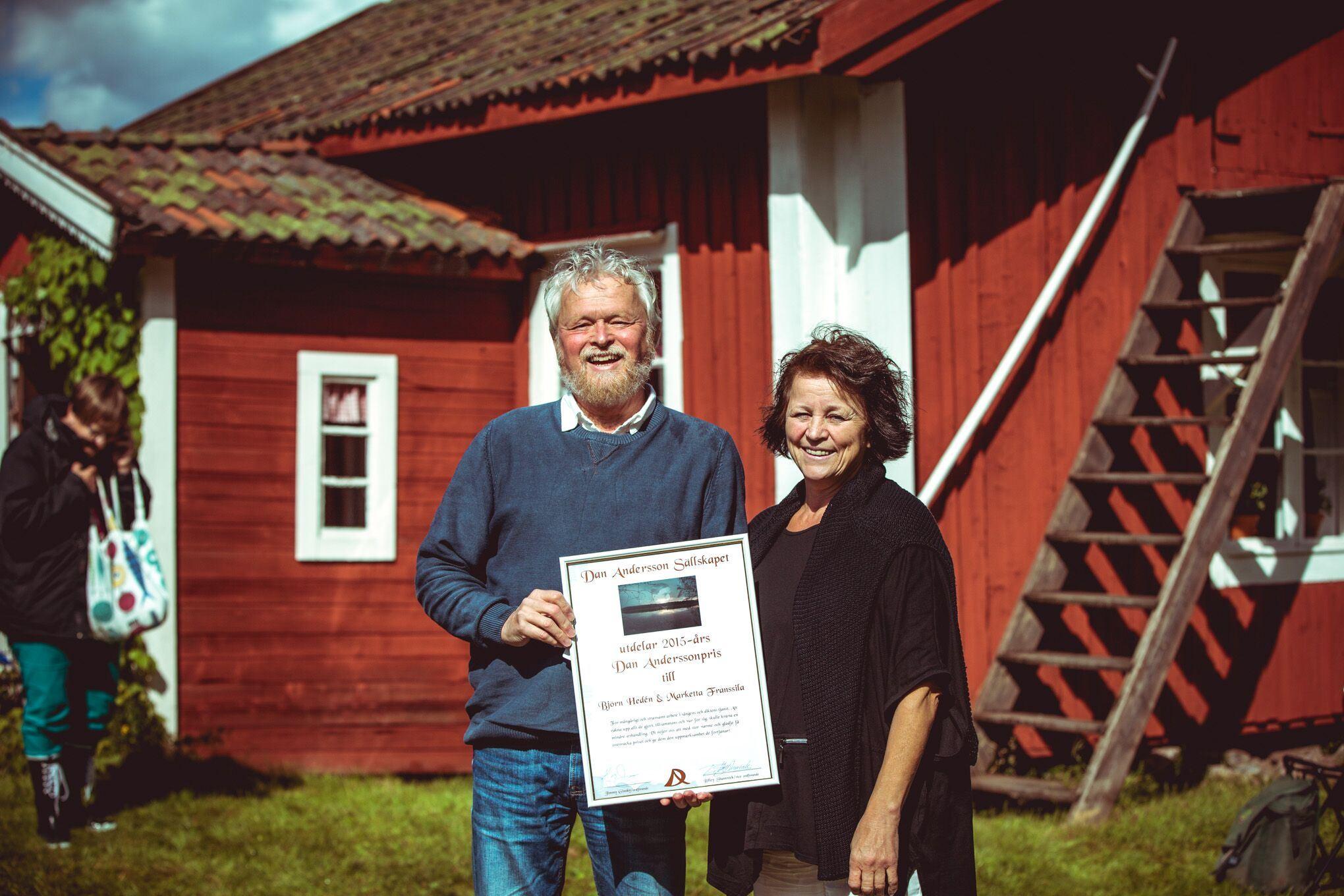 Marketta Franssila och Björn Hedén
