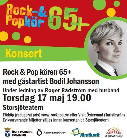 Vårkonsert Rock & Popkören 65+