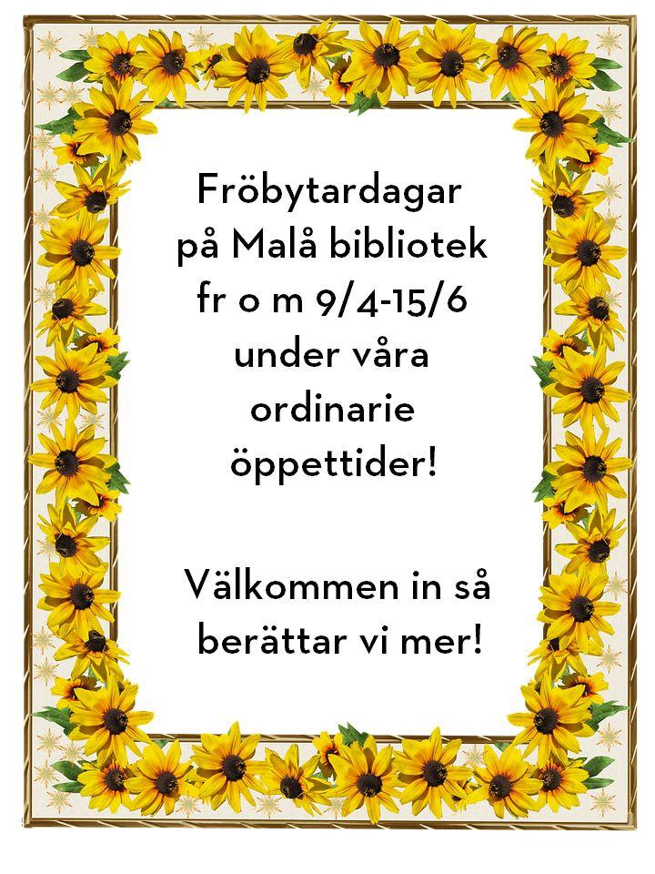 Fröbytardagar på Malå bibliotek
