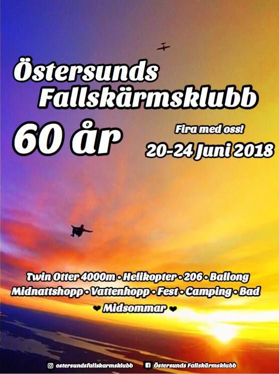 © Östersunds fallskärmsklubb,  Östersund parachute club celebrates 60 years