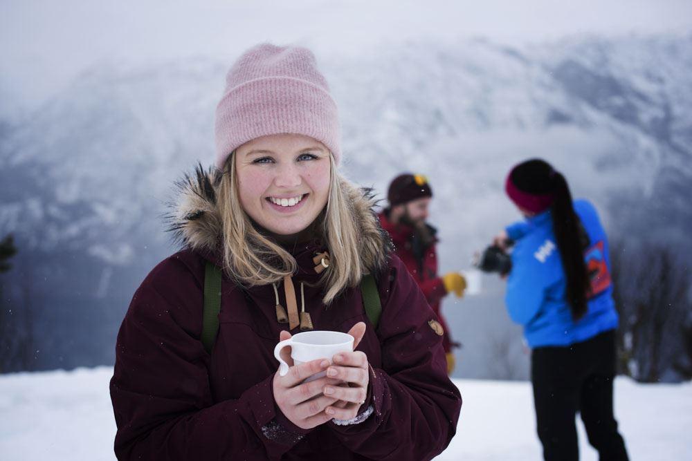 © Thea Hermansen, Snowshoe hiking and Ægir Viking dinner