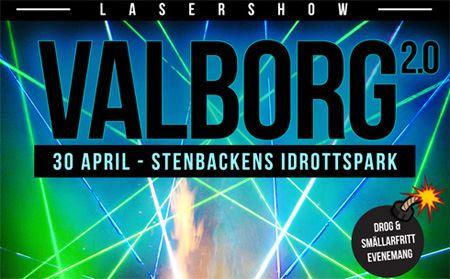 Valborg 2.0 med lasershow