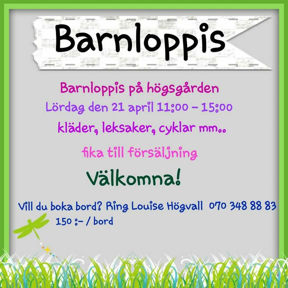 Louise Högvall, Barnloppis