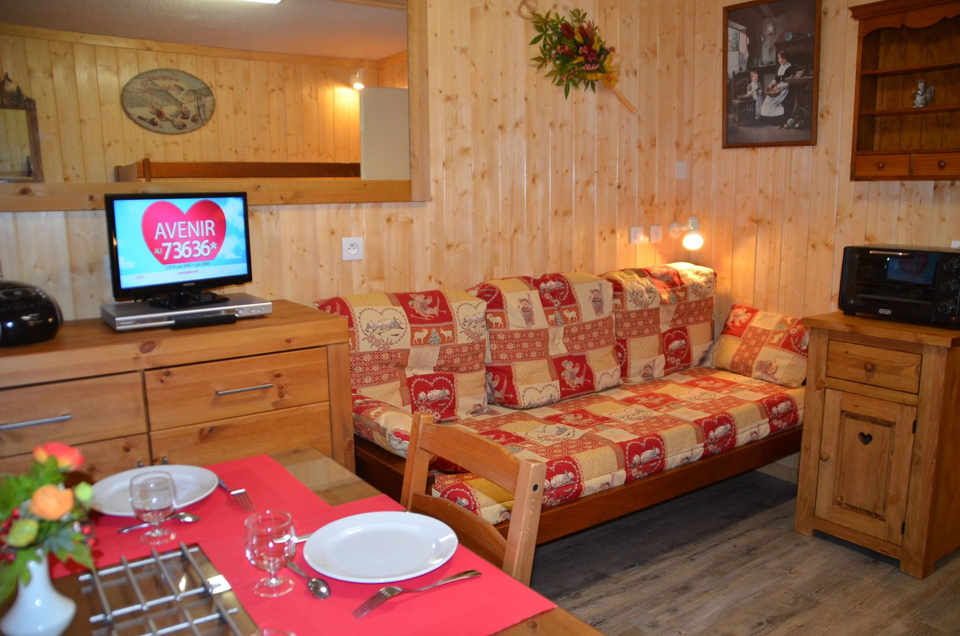 Studio 2 Pers skis aux pieds / CHAVIERE 729