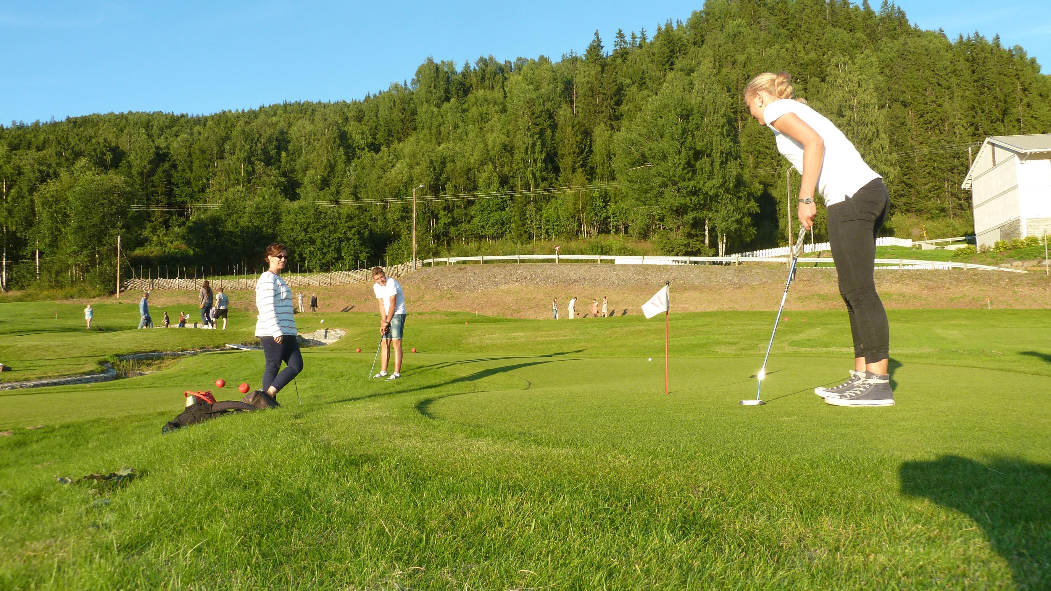 Mini golf in Hafjell