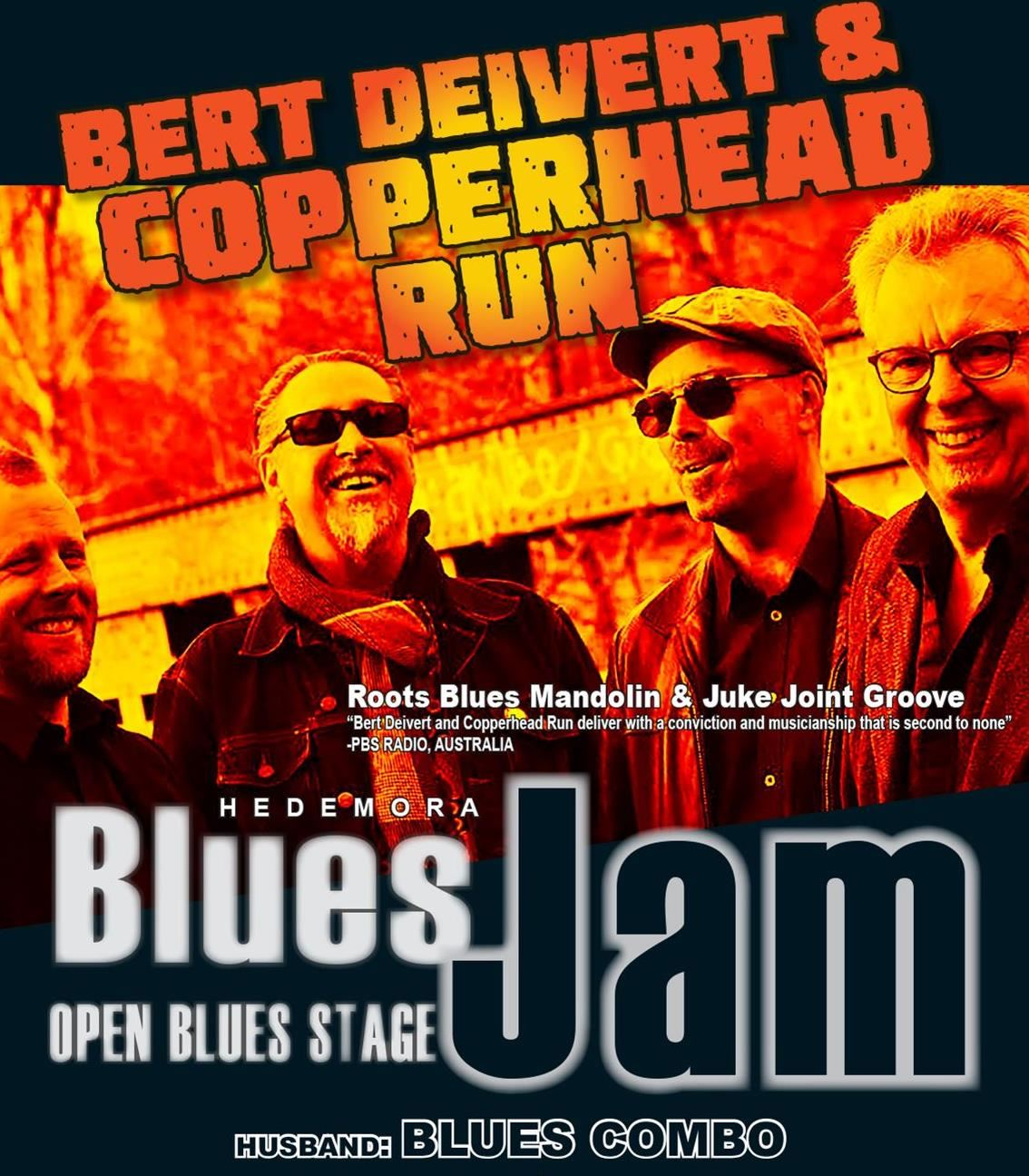 Hedemora Blues Jam och Bert Deivert och Copperhead Run