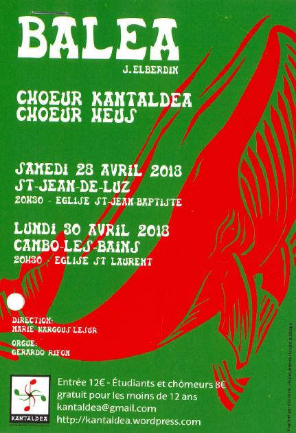 Concert Balea, Samedi 28 Avril à 20h30
