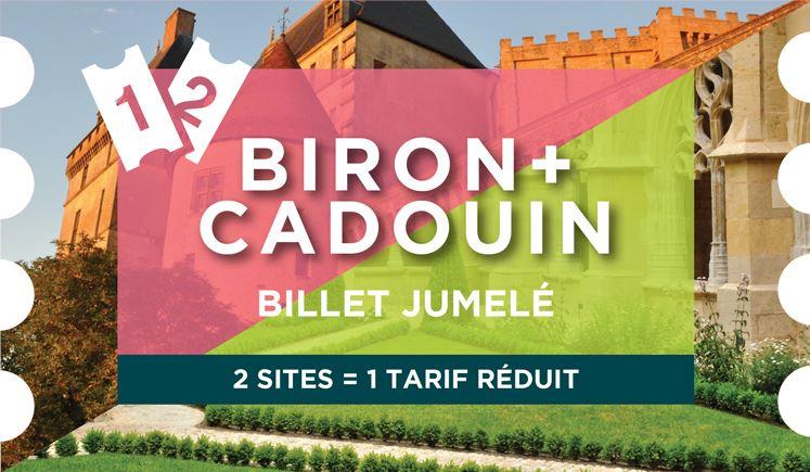 JUMELÉ : CHÂTEAU DE BIRON + CLOÎTRE DE CADOUIN