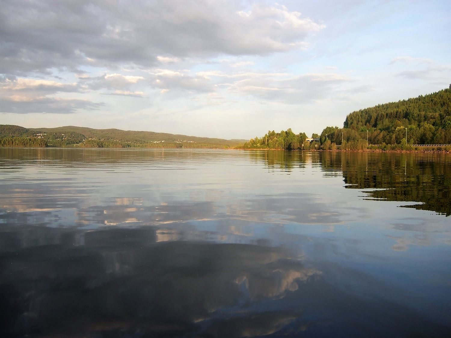Fishing in lake Mjøsa and Lillehammer area