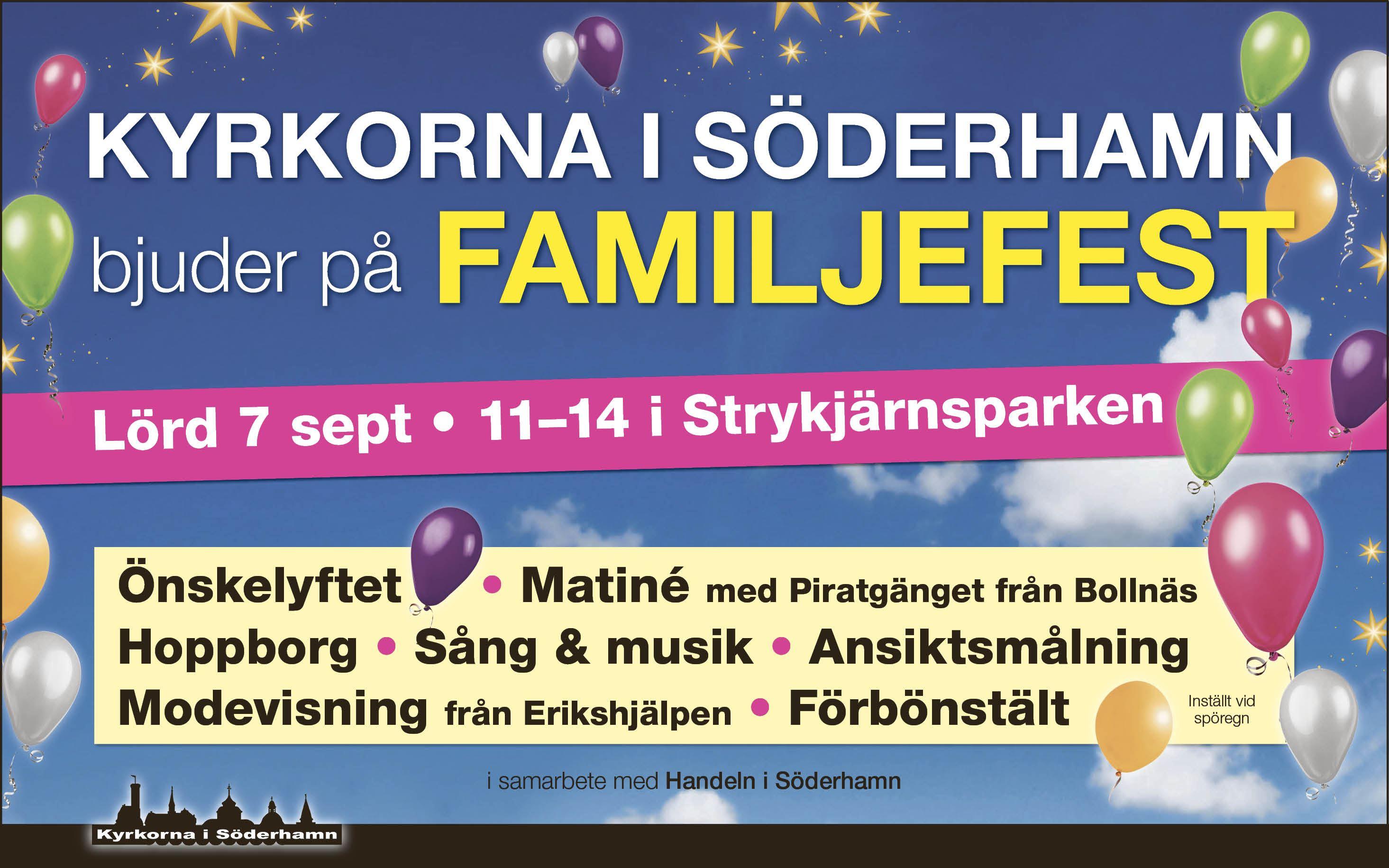 Kyrkorna i Söderhamn bjuder på Familjefest!