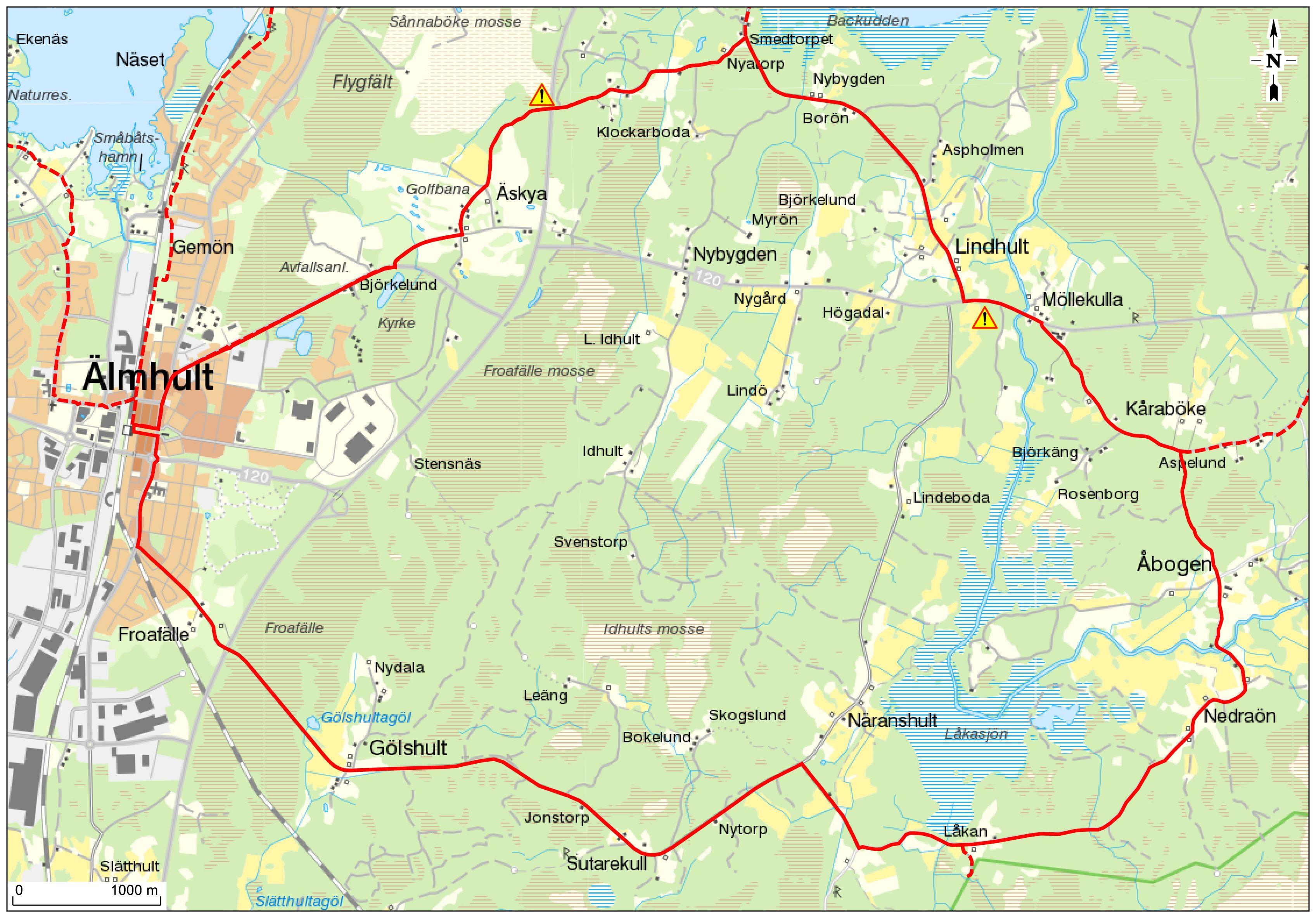 Radtour - Vakö Myr-Runda - 22 km