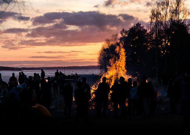 Valborgsmässofirande - Sjöviksbacken Lugnvik