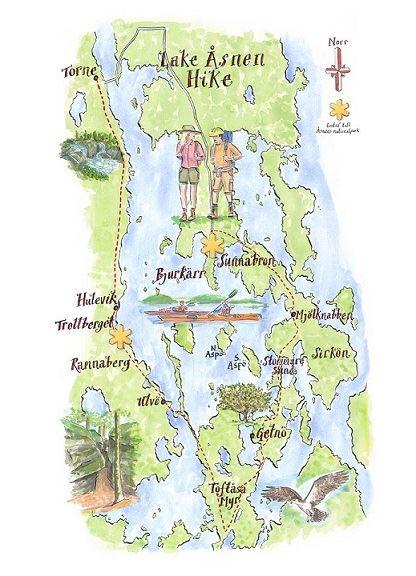 Vandring runt Åsnen