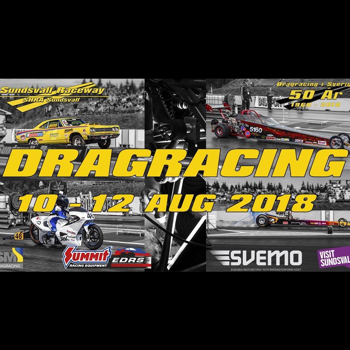 Dragracing tävling 2 Sundsvall 2018