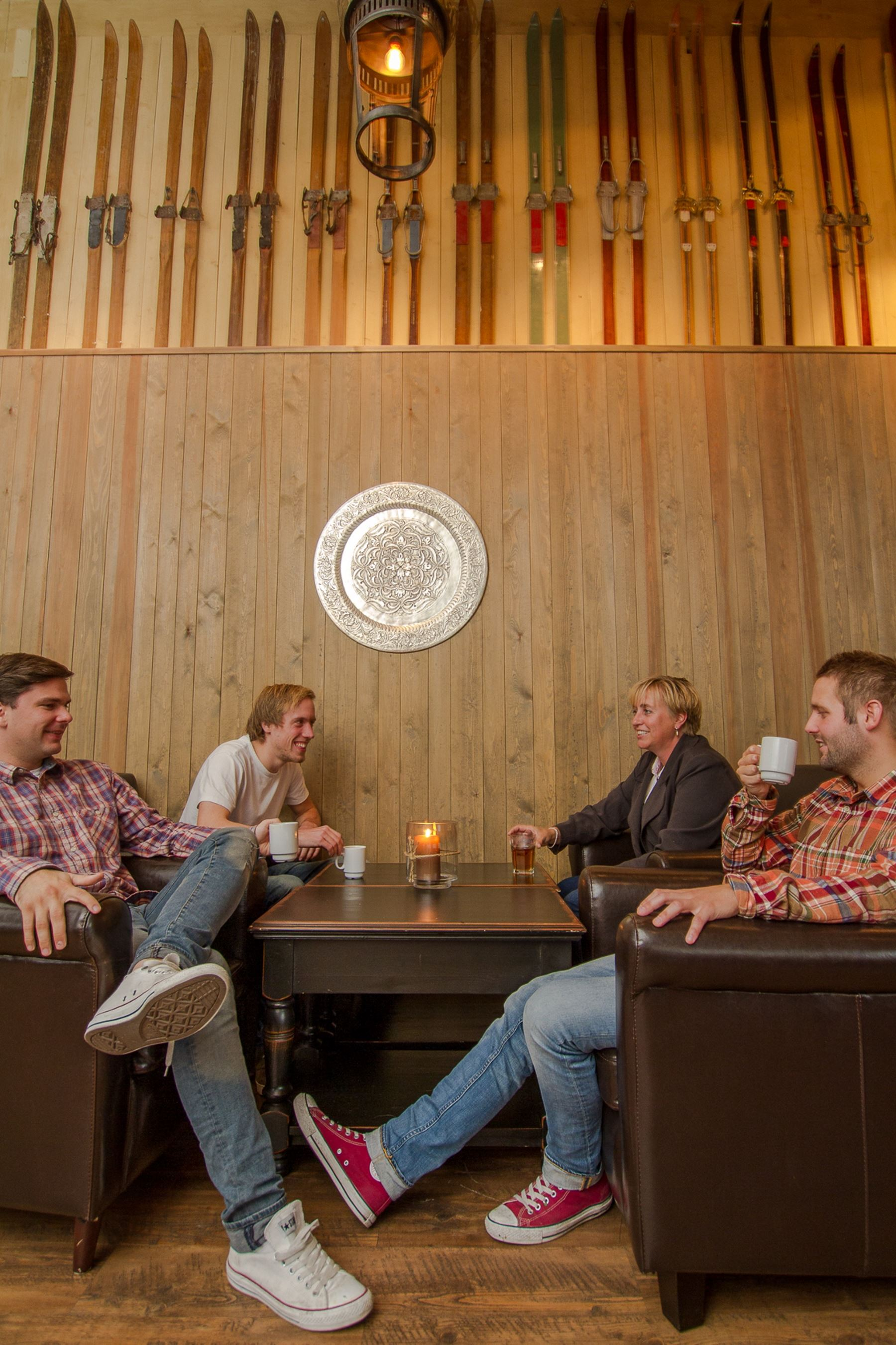 Fire place lounge at Hafjell Hotel