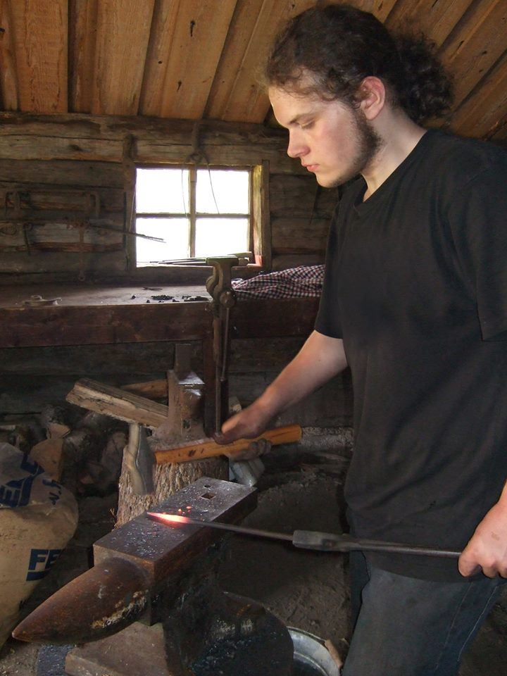 Blacksmith at Jan Karlsgården open-air museum